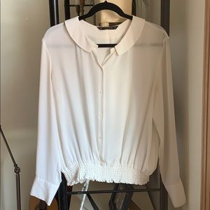 Zara off white blouse